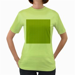 Polka Dot Green Yellow Women s Green T Shirt by Mariart
