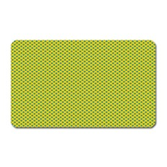 Polka Dot Green Yellow Magnet (rectangular) by Mariart
