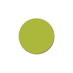 Polka Dot Green Yellow Golf Ball Marker (4 Pack) by Mariart