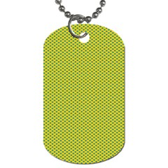 Polka Dot Green Yellow Dog Tag (two Sides) by Mariart