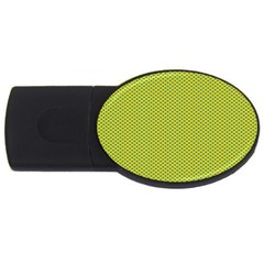 Polka Dot Green Yellow Usb Flash Drive Oval (4 Gb) by Mariart
