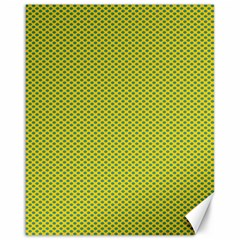 Polka Dot Green Yellow Canvas 16  X 20   by Mariart