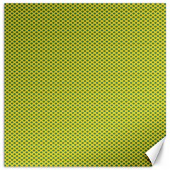 Polka Dot Green Yellow Canvas 20  X 20   by Mariart