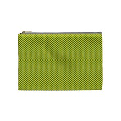 Polka Dot Green Yellow Cosmetic Bag (medium)  by Mariart