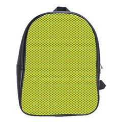 Polka Dot Green Yellow School Bags(large)  by Mariart