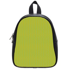 Polka Dot Green Yellow School Bags (small)  by Mariart