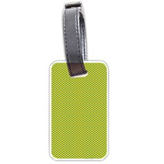 Polka Dot Green Yellow Luggage Tags (one Side)  by Mariart
