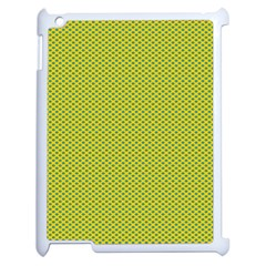 Polka Dot Green Yellow Apple Ipad 2 Case (white) by Mariart