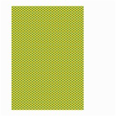 Polka Dot Green Yellow Small Garden Flag (two Sides) by Mariart