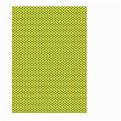 Polka Dot Green Yellow Large Garden Flag (two Sides) by Mariart