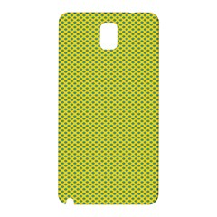 Polka Dot Green Yellow Samsung Galaxy Note 3 N9005 Hardshell Back Case by Mariart