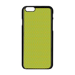Polka Dot Green Yellow Apple Iphone 6/6s Black Enamel Case by Mariart
