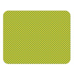 Polka Dot Green Yellow Double Sided Flano Blanket (large)  by Mariart