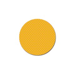 Polka Dot Orange Yellow Golf Ball Marker by Mariart