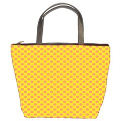 Polka Dot Orange Yellow Bucket Bags by Mariart