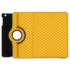 Polka Dot Orange Yellow Apple Ipad Mini Flip 360 Case by Mariart