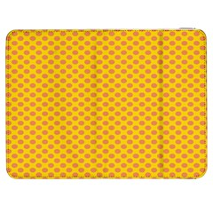 Polka Dot Orange Yellow Samsung Galaxy Tab 7  P1000 Flip Case by Mariart