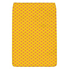 Polka Dot Orange Yellow Flap Covers (s)  by Mariart
