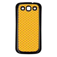 Polka Dot Orange Yellow Samsung Galaxy S3 Back Case (black) by Mariart