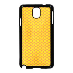 Polka Dot Orange Yellow Samsung Galaxy Note 3 Neo Hardshell Case (black) by Mariart