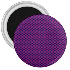 Polka Dot Purple Blue 3  Magnets