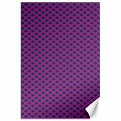 Polka Dot Purple Blue Canvas 20  X 30   by Mariart