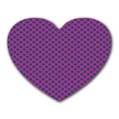 Polka Dot Purple Blue Heart Mousepads by Mariart