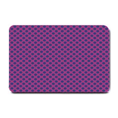 Polka Dot Purple Blue Small Doormat  by Mariart