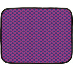 Polka Dot Purple Blue Double Sided Fleece Blanket (mini)  by Mariart