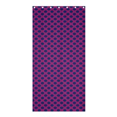 Polka Dot Purple Blue Shower Curtain 36  X 72  (stall)  by Mariart