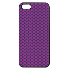 Polka Dot Purple Blue Apple Iphone 5 Seamless Case (black) by Mariart