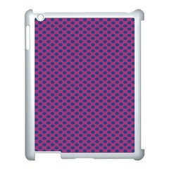 Polka Dot Purple Blue Apple Ipad 3/4 Case (white) by Mariart