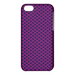 Polka Dot Purple Blue Apple Iphone 5c Hardshell Case by Mariart