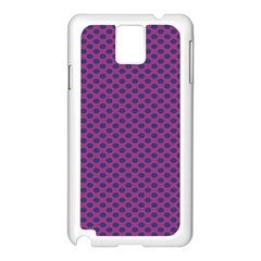 Polka Dot Purple Blue Samsung Galaxy Note 3 N9005 Case (white) by Mariart