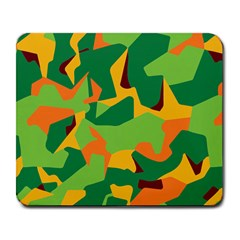 Initial Camouflage Green Orange Yellow Large Mousepads by Mariart