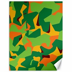 Initial Camouflage Green Orange Yellow Canvas 18  X 24   by Mariart