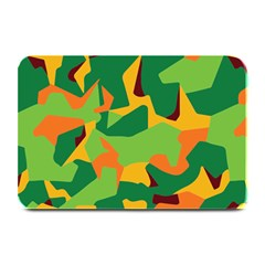 Initial Camouflage Green Orange Yellow Plate Mats