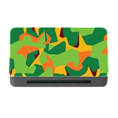 Initial Camouflage Green Orange Yellow Memory Card Reader With Cf by Mariart