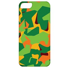 Initial Camouflage Green Orange Yellow Apple Iphone 5 Classic Hardshell Case by Mariart