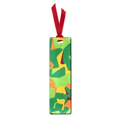 Initial Camouflage Green Orange Yellow Small Book Marks by Mariart