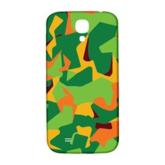 Initial Camouflage Green Orange Yellow Samsung Galaxy S4 I9500/i9505  Hardshell Back Case by Mariart