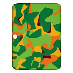 Initial Camouflage Green Orange Yellow Samsung Galaxy Tab 3 (10 1 ) P5200 Hardshell Case  by Mariart