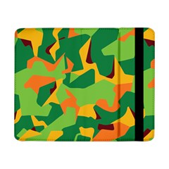 Initial Camouflage Green Orange Yellow Samsung Galaxy Tab Pro 8 4  Flip Case by Mariart