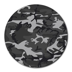 Initial Camouflage Grey Round Mousepads by Mariart