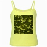 Initial Camouflage Grey Yellow Spaghetti Tank Front
