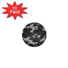 Initial Camouflage Grey 1  Mini Buttons (10 Pack)  by Mariart