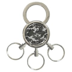 Initial Camouflage Grey 3 Ring Key Chains by Mariart