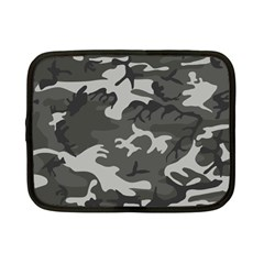 Initial Camouflage Grey Netbook Case (small)  by Mariart