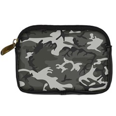 Initial Camouflage Grey Digital Camera Cases by Mariart