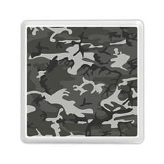 Initial Camouflage Grey Memory Card Reader (square)  by Mariart